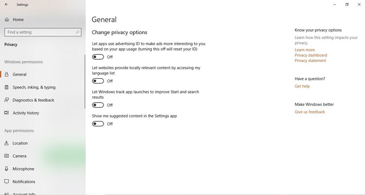 Windows 10 Security Guide - Privacy