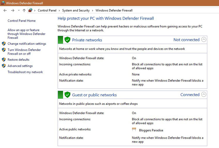 Windows Firewall - Windows 10 Security Guide