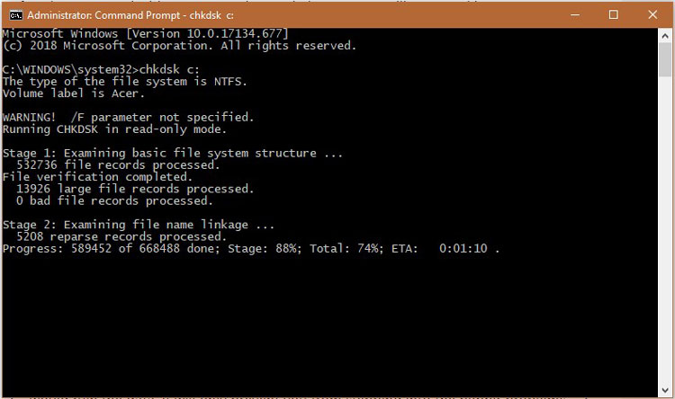 Fix Hard Disk chkdsk 4