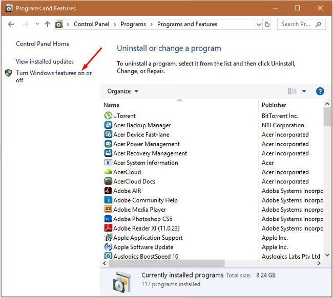 Install MS.Net Windows 4