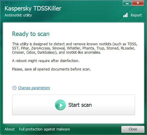 Best Rootkit Remover - Kaspersky TDSSKiller