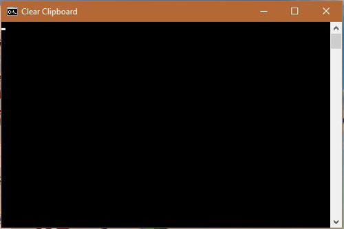 Clear Clipboard in Windows 10