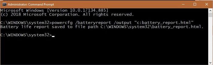 Get Battery Report 2