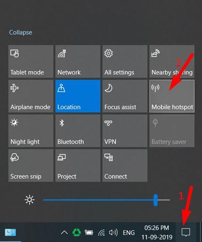 Inbuilt Mobile Hotspot in Windows 10