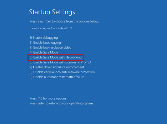 Safe Mode with Networking 2