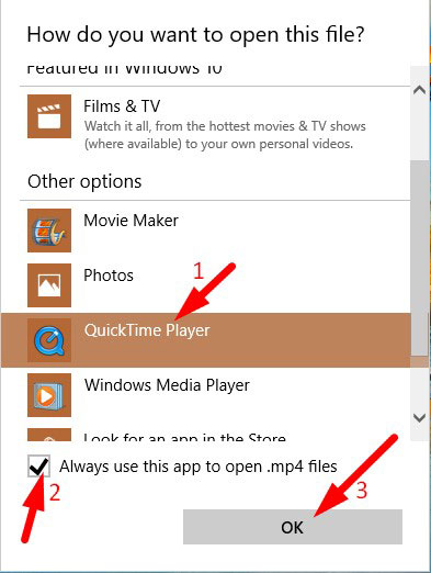 Set Default Video Media Player by File 2
