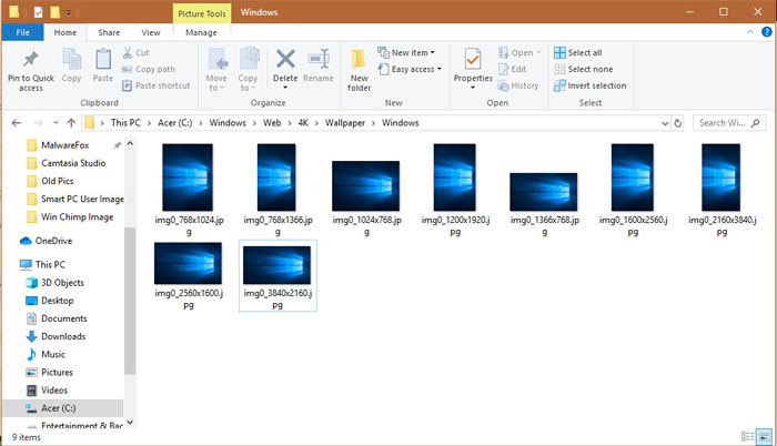 Where Are Themes Wallpapers Stored In Windows 10 File