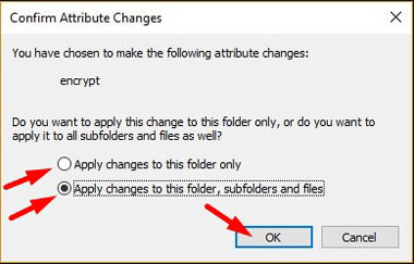 Apply Changes to subfolders