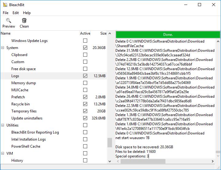 BleachBit - Free up Disk Space