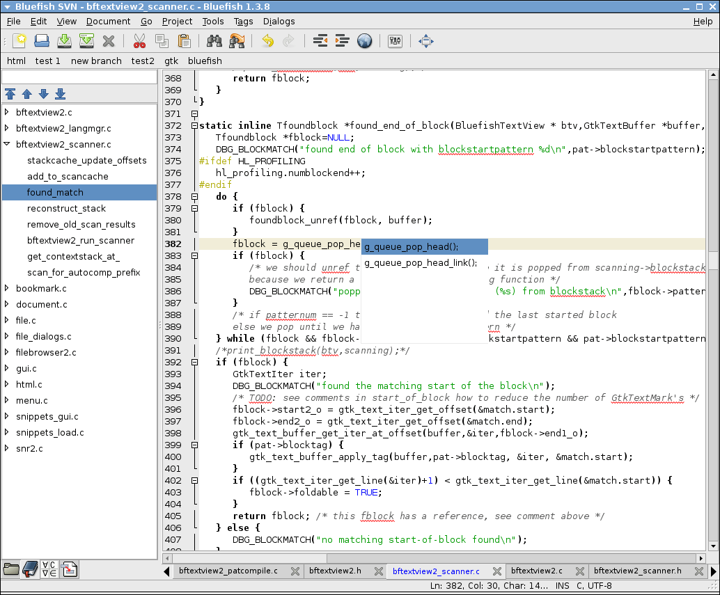 Bluefish - Top 10 Text Editors for Windows 10