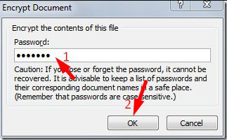 How to Encrypt Word Document 2