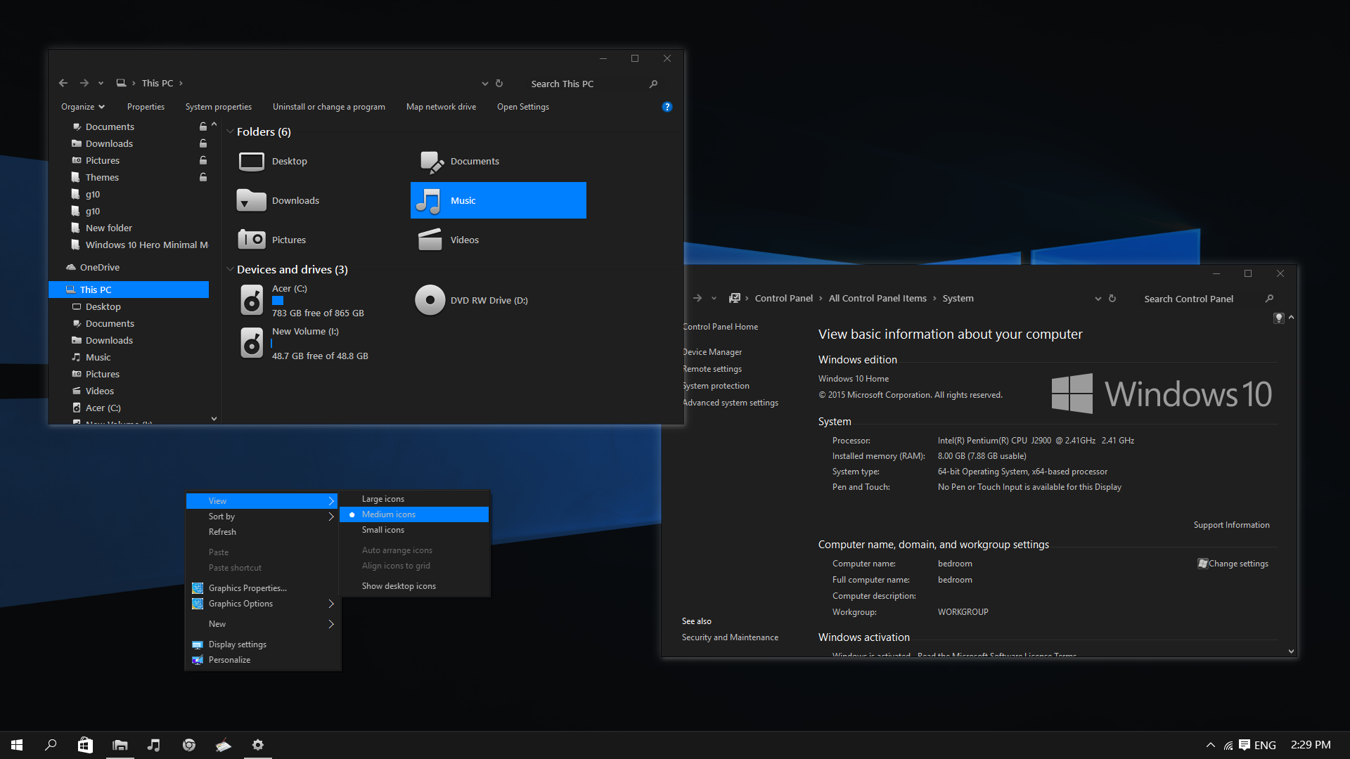 Nocturnal W10 Dark Theme