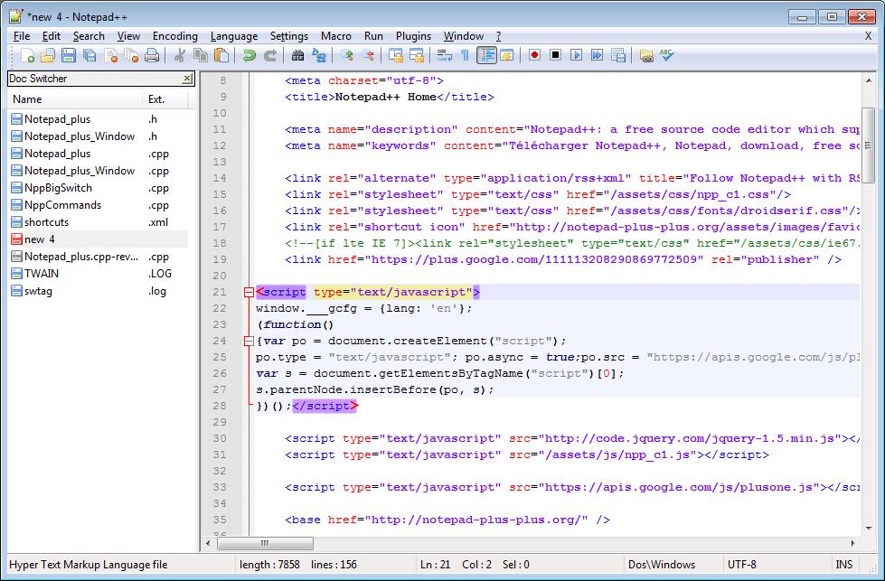 Notepad++ - Top Text Editors for Programers