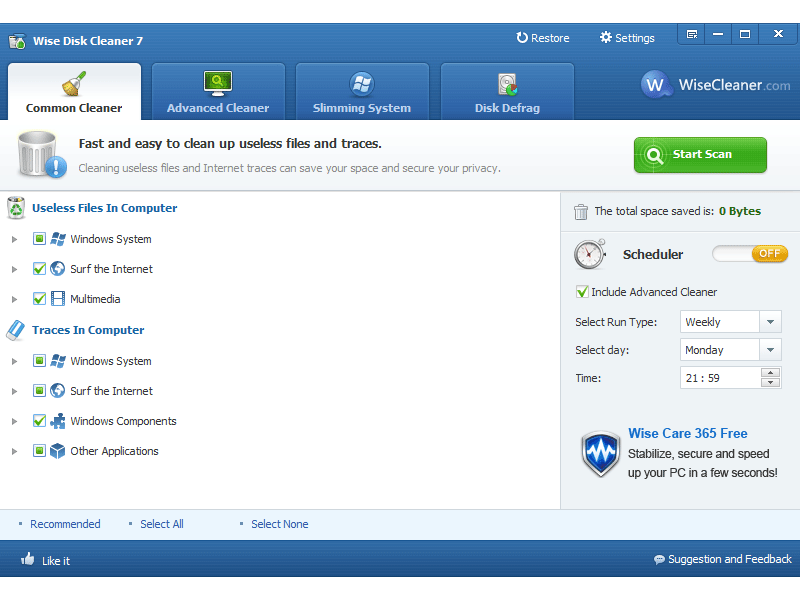 Wise Disk Cleaner - Tools to Free Up Disk Space