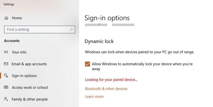 Dynamic Lock - Is Windows 10 Secure