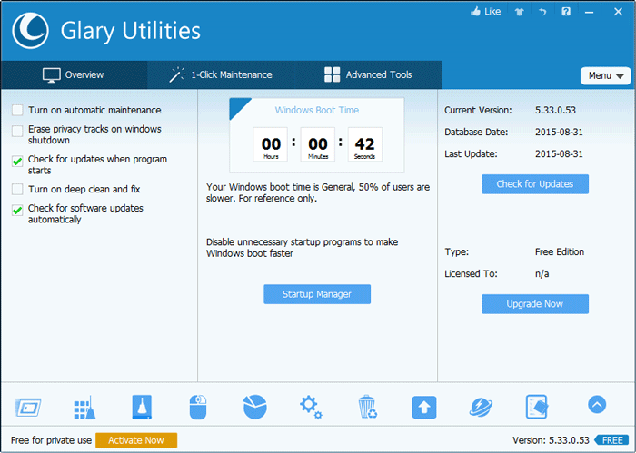 Glary Utilities - Top Alternatives of CCleaner