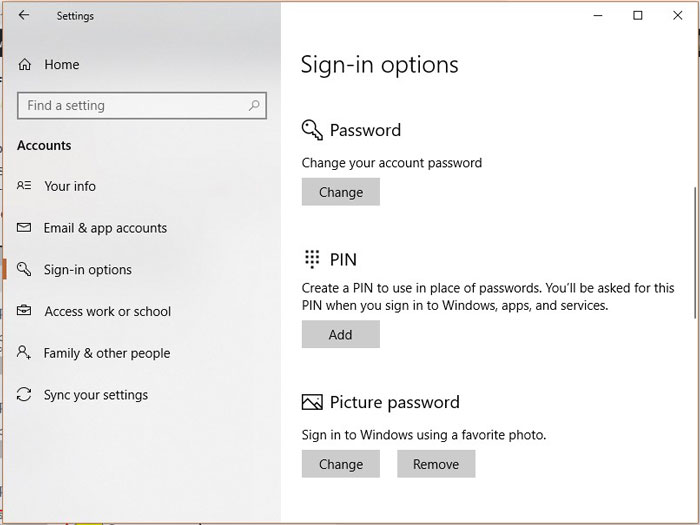 Picture Password - Is Windows 10 Secured