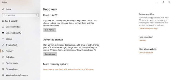 Recovery - Is Windows 10 Secure