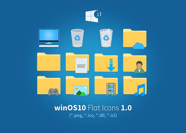 winOS10 Flat may have an insufficient number of icons, but it effectively replaces the default windows icons. The icon pack is suitable for desktop icons ...