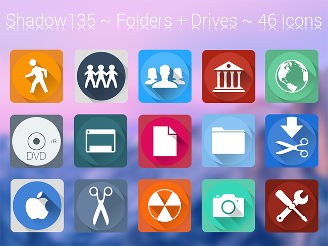 Shadow 135 is an extension icon pack for both Windows 10 and MacOS. It is reminiscent of Google's Material UI. The colors blend well with Metro UI of ...
