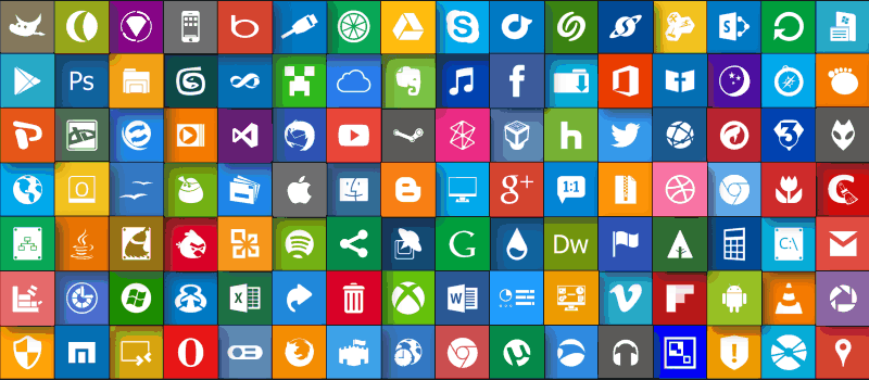 how to find icons on windows 10