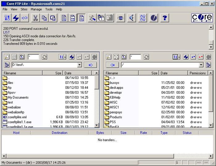 Core FTP LE - Best Free FTP Client