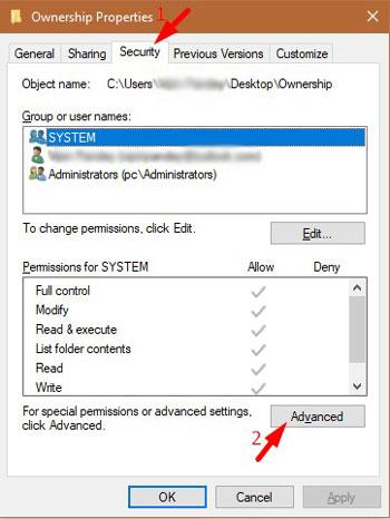 Fix Folder Access Denied Error 1-2