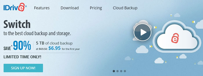 iDrive - Top 5 Cloud Backups