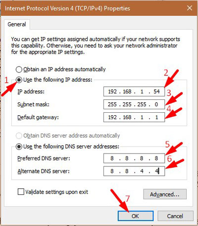 Assign Static IP Address 4