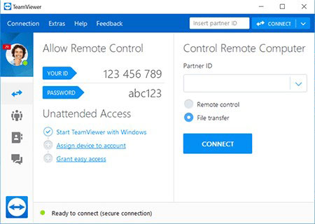 TeamViewer to use two keyboard and mice on one computer