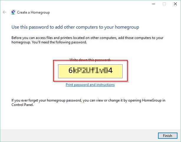 HomeGroup Password
