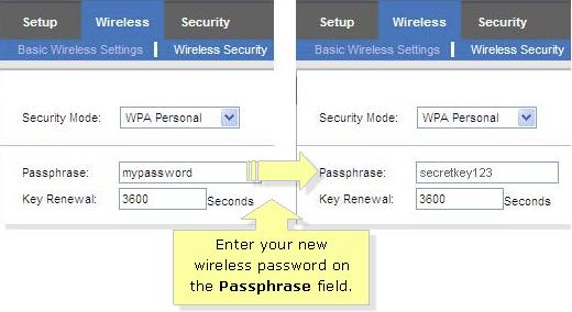 Linksys WiFi Password