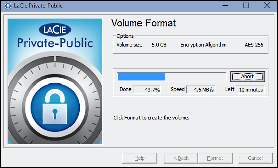 LaCie Private-Public - Encryption Software for USB Drive