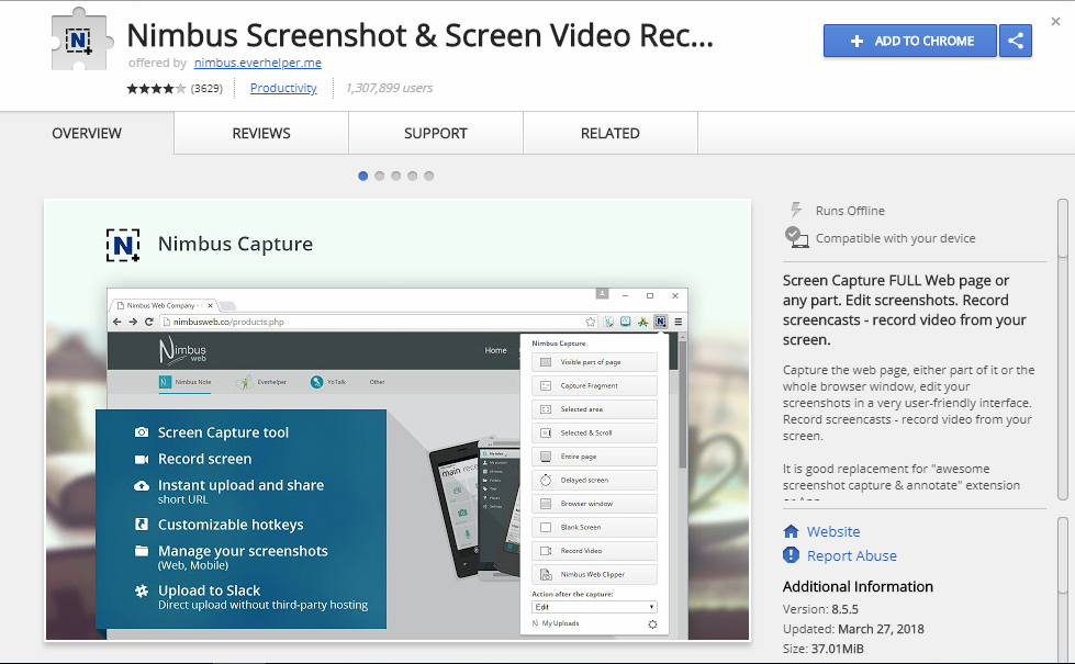 How to Screenshot entire webpage