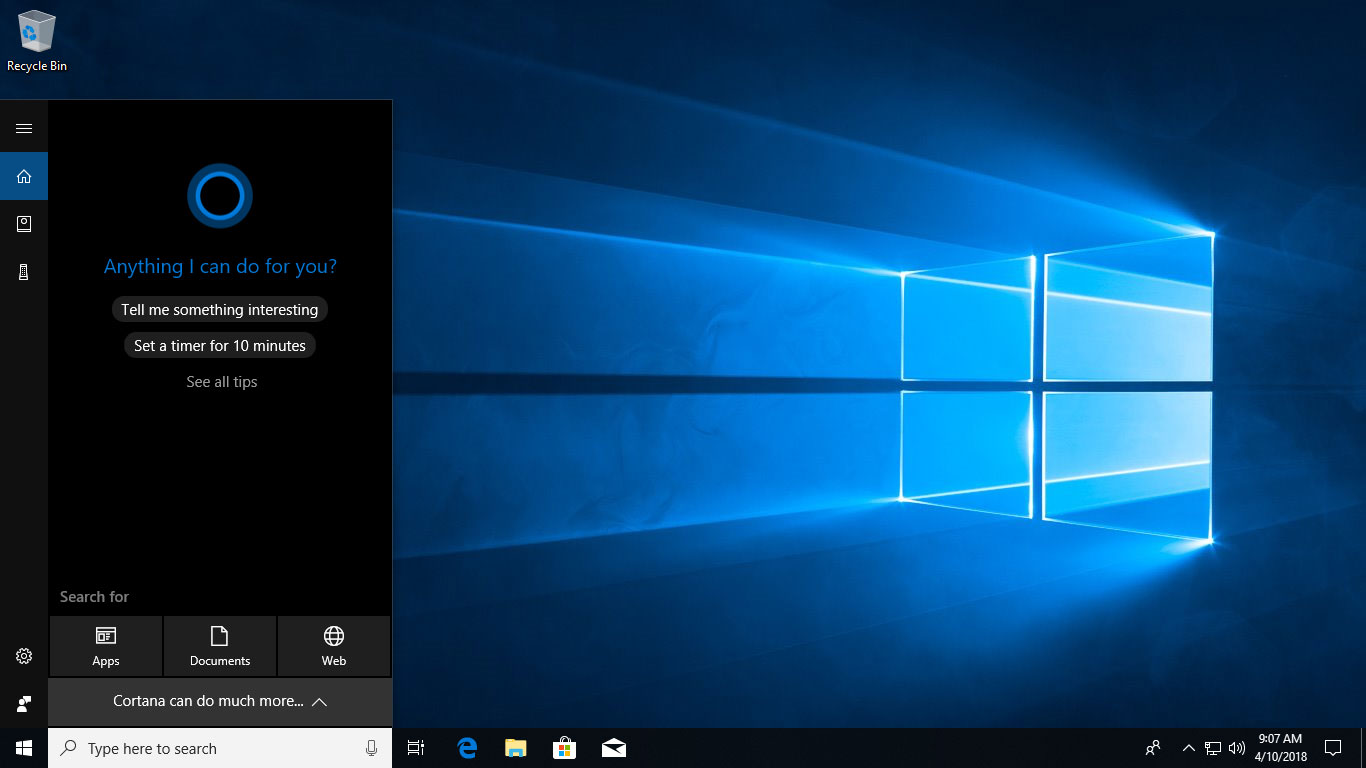 Cortana - Spring Creators Update Features