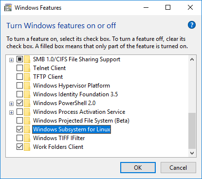 Windows Features on Off