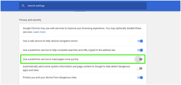 Google Chrome Settings to Fix Disk Usage