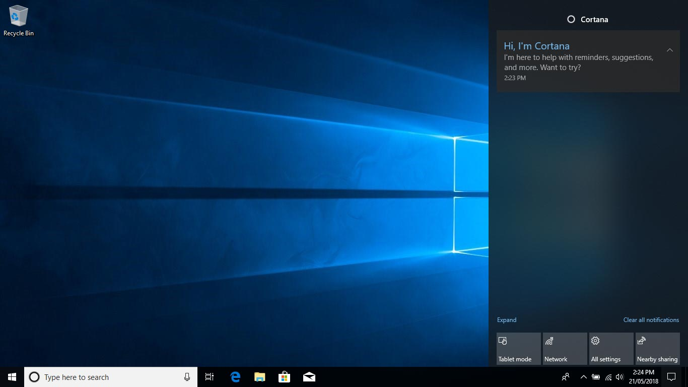 Cortana - Windows 10 April Update Review