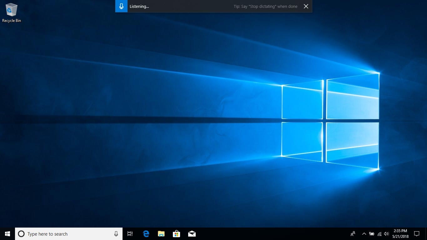 Dictation - WIndows 10 April 2018 Update Review