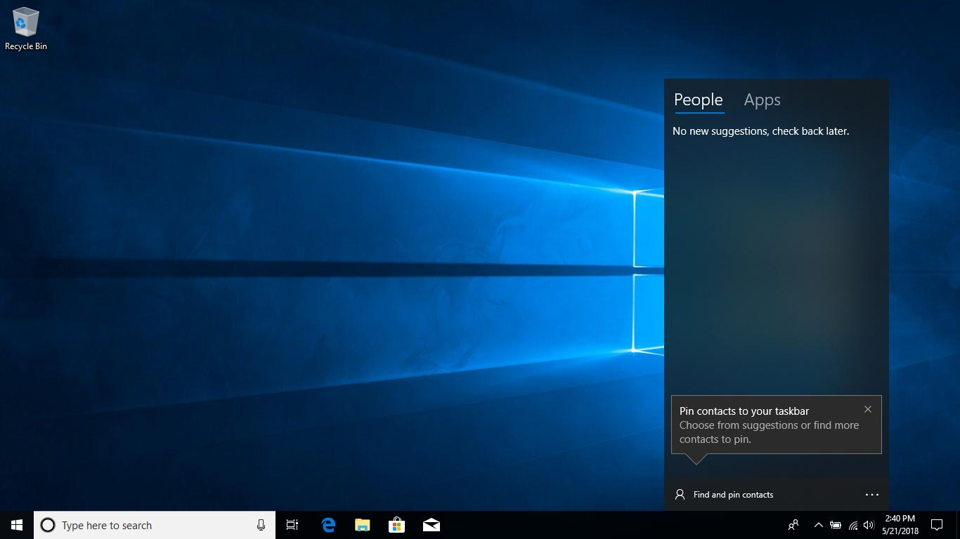 My People Feature in Windows 10 April Update