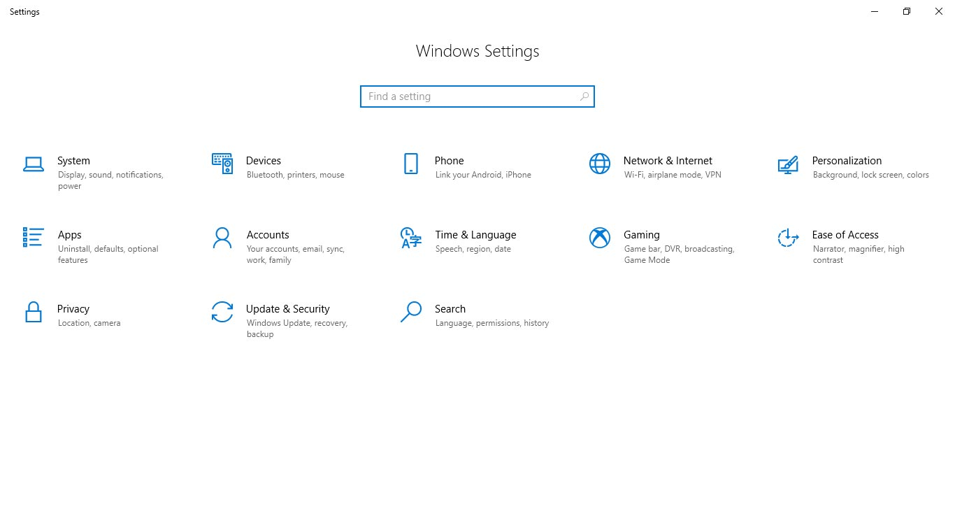 Settings - Windows 10 April 2018 Update Review