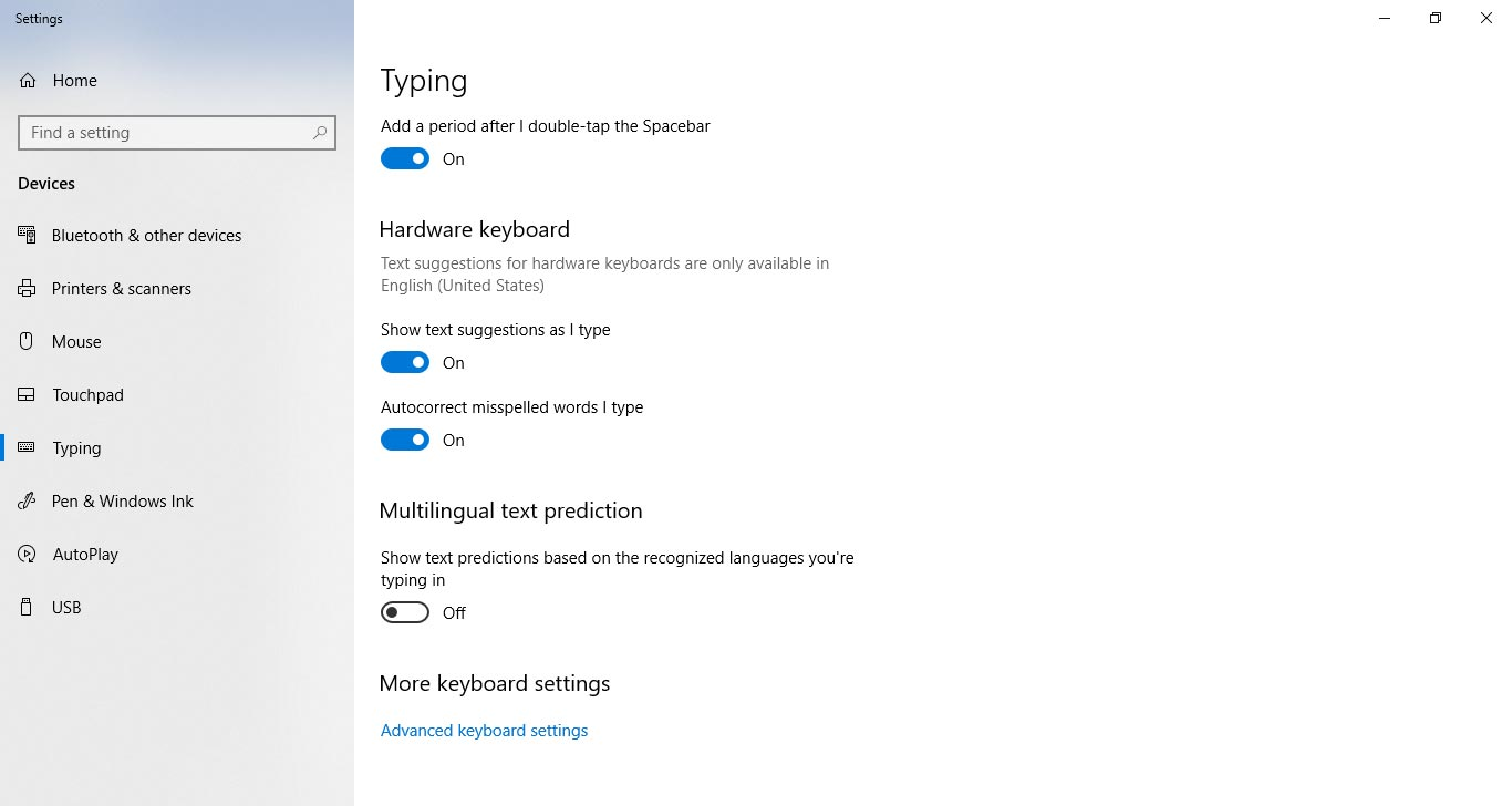 Text Suggestions Autocorrect Feature in Windows 10 April Update