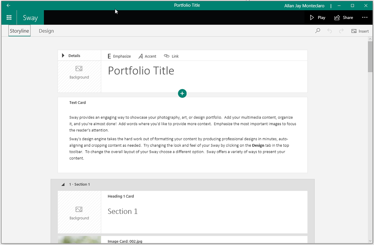Microsoft Sway - Alternative to PowerPoint