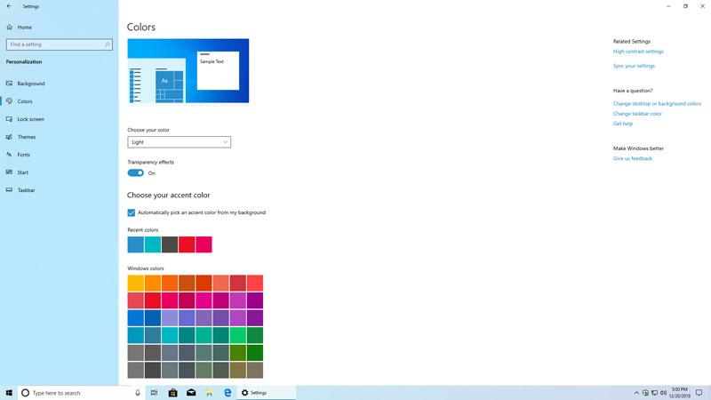 Light Theme Color Customizations