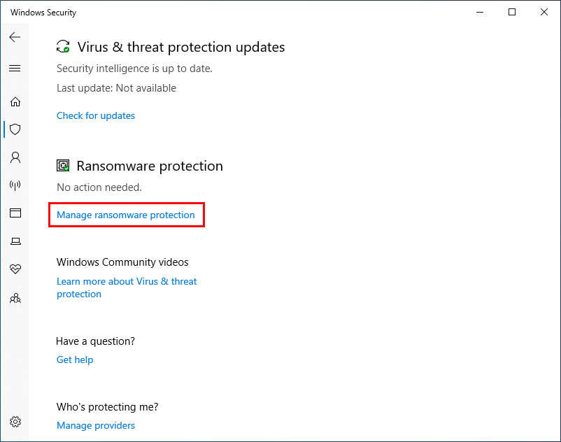 virus and threat protection updates