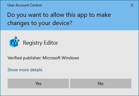 UAC Prompt on Windows 10