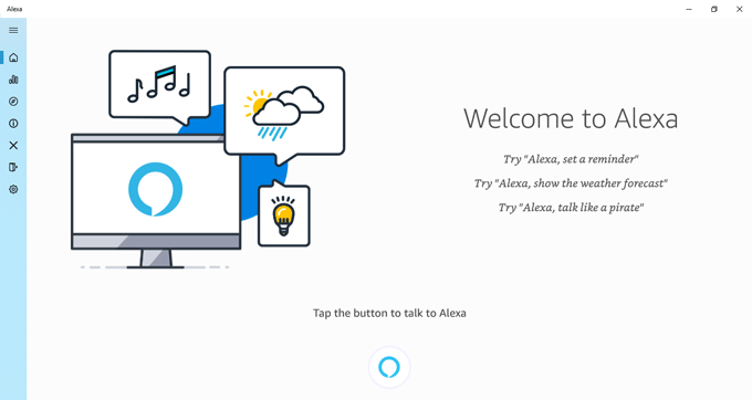 Aplicación de Alexa en Windows 10