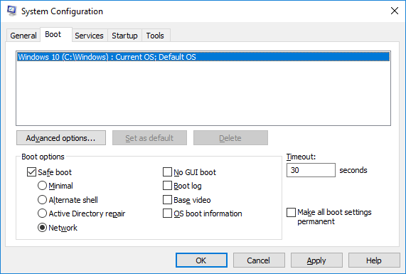 Boot Safe Mode - Windows 10 Annoyances