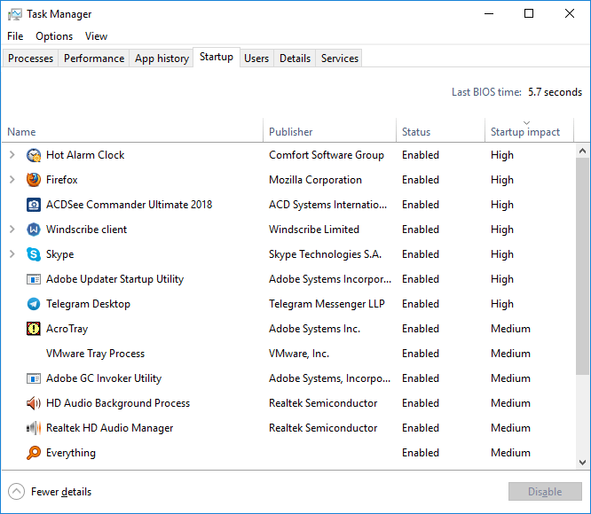 Startup Impact - Fix Windows 10 Annoyances