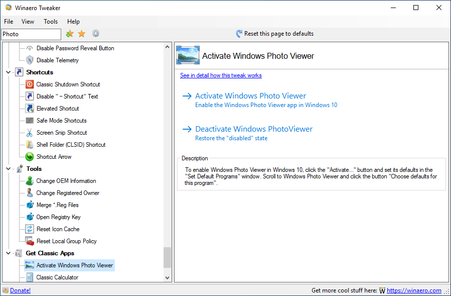 Winaero Windows Photo Viewer